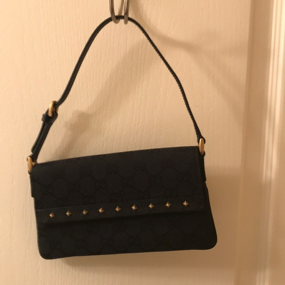 cbdd865c4 Gucci Bags | New Black Monogram Mini Wristletclutch | Poshmark